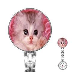 Cat  Animal  Kitten  Pet Stainless Steel Nurses Watch