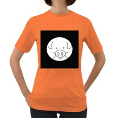 Pig Logo Women s Dark T Shirt