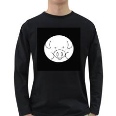 Pig Logo Long Sleeve Dark T Shirts