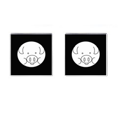 Pig Logo Cufflinks (square)