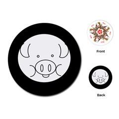 Pig Logo Playing Cards (round)