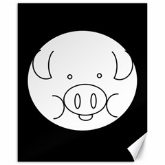 Pig Logo Canvas 16  X 20