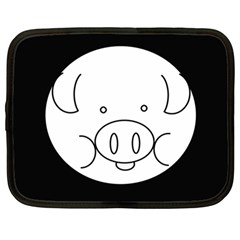 Pig Logo Netbook Case (large)