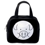 Pig Logo Classic Handbags (2 Sides) Back