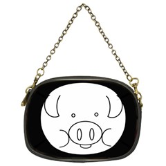 Pig Logo Chain Purses (two Sides)