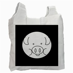 Pig Logo Recycle Bag (one Side)