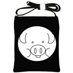 Pig Logo Shoulder Sling Bags