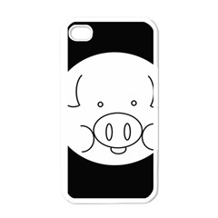 Pig Logo Apple Iphone 4 Case (white)