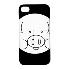 Pig Logo Apple Iphone 4/4s Hardshell Case With Stand