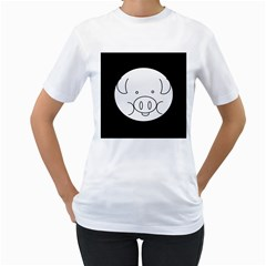 Pig Logo Women s T Shirt (white)