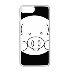 Pig Logo Apple Iphone 7 Plus White Seamless Case