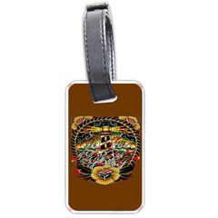 Tattoo Art Print Traditional Artwork Lighthouse Wave Luggage Tags (one Side)