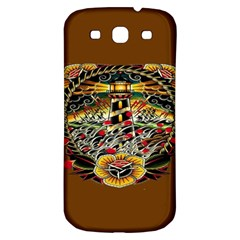 Tattoo Art Print Traditional Artwork Lighthouse Wave Samsung Galaxy S3 S Iii Classic Hardshell Back Case