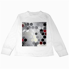 Honeycomb Pattern Kids Long Sleeve T Shirts