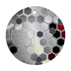 Honeycomb Pattern Round Ornament (two Sides)