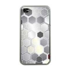 Honeycomb Pattern Apple Iphone 4 Case (clear)
