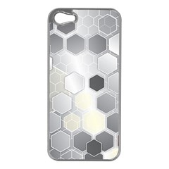 Honeycomb Pattern Apple Iphone 5 Case (silver)
