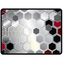 Honeycomb Pattern Double Sided Fleece Blanket (large)