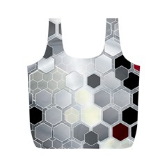 Honeycomb Pattern Full Print Recycle Bags (m)