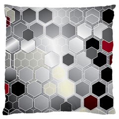 Honeycomb Pattern Standard Flano Cushion Case (one Side)