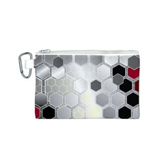 Honeycomb Pattern Canvas Cosmetic Bag (s)