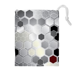 Honeycomb Pattern Drawstring Pouches (extra Large)
