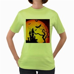 Halloween Night Terrors Women s Green T Shirt