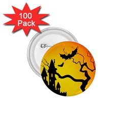 Halloween Night Terrors 1 75  Buttons (100 Pack)