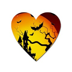Halloween Night Terrors Heart Magnet