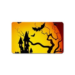Halloween Night Terrors Magnet (name Card)