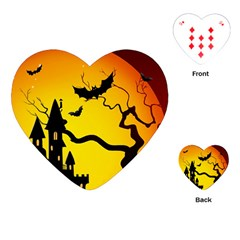 Halloween Night Terrors Playing Cards (heart)
