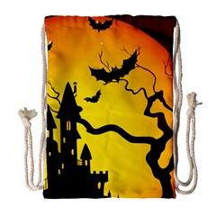 Halloween Night Terrors Drawstring Bag (large)