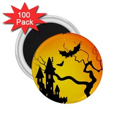 Halloween Night Terrors 2 25  Magnets (100 Pack)