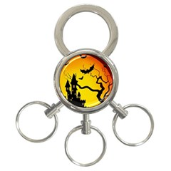 Halloween Night Terrors 3 Ring Key Chains