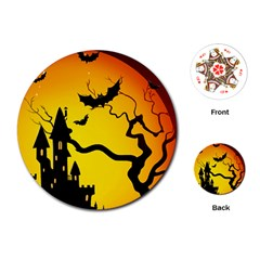 Halloween Night Terrors Playing Cards (round)