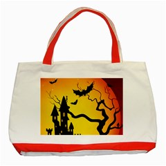 Halloween Night Terrors Classic Tote Bag (red)