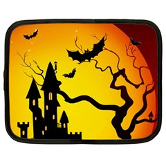 Halloween Night Terrors Netbook Case (large)