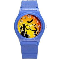 Halloween Night Terrors Round Plastic Sport Watch (s)