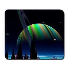 Planets In Space Stars Large Mousepads