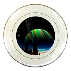 Planets In Space Stars Porcelain Plates