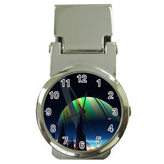 Planets In Space Stars Money Clip Watches