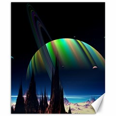 Planets In Space Stars Canvas 8  X 10