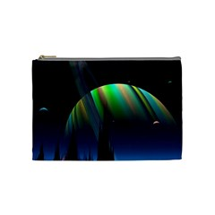 Planets In Space Stars Cosmetic Bag (medium)