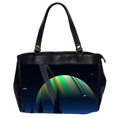 Planets In Space Stars Office Handbags (2 Sides)