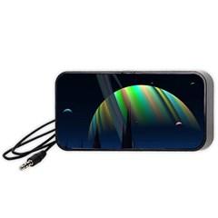 Planets In Space Stars Portable Speaker (black)