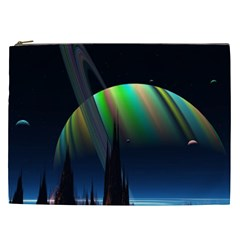 Planets In Space Stars Cosmetic Bag (xxl)