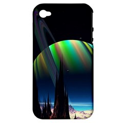 Planets In Space Stars Apple Iphone 4/4s Hardshell Case (pc+silicone)