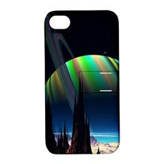 Planets In Space Stars Apple Iphone 4/4s Hardshell Case With Stand