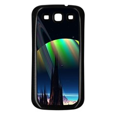 Planets In Space Stars Samsung Galaxy S3 Back Case (black)