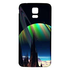 Planets In Space Stars Samsung Galaxy S5 Back Case (white)